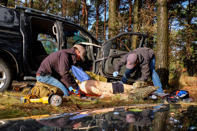 Pictured is Nautilus International providing simulation for a casualty exercise.